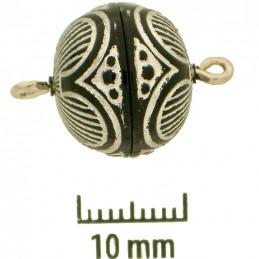 Neumann musta/hopea kaiverrettu magneettilukko