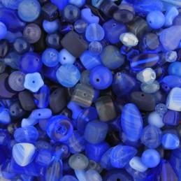 Preciosa lasihelmisekoitus, Blue