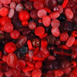 Preciosa lasihelmisekoitus, Red