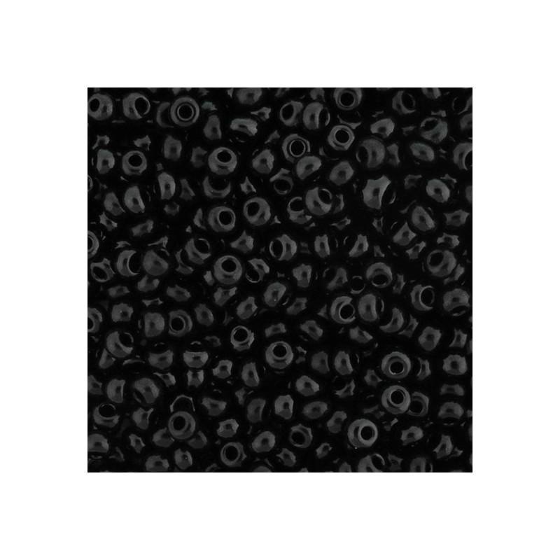 Preciosa pyöreä siemenhelmi 6/0, opaakki musta