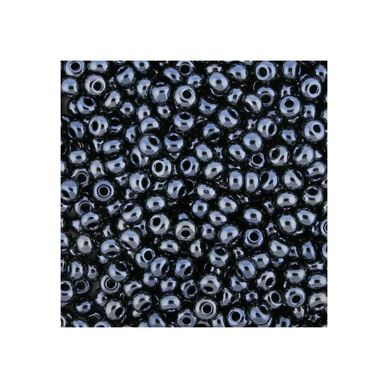 Preciosa pyöreä siemenhelmi 6/0, opaakki hematiitti