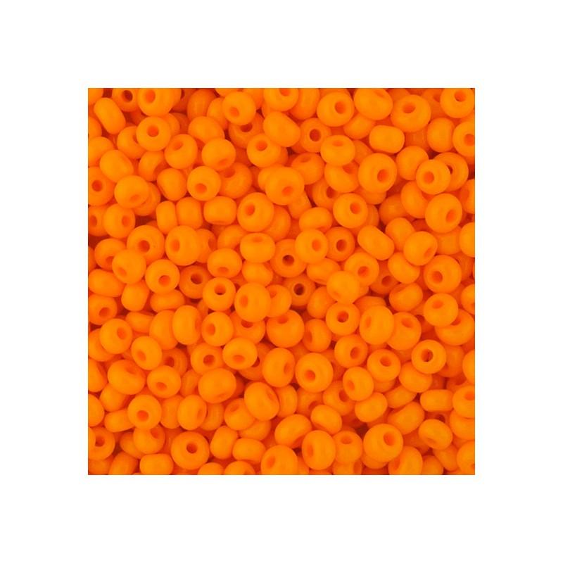 Preciosa pyöreä siemenhelmi 6/0, opaakki oranssi