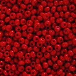 Preciosa pyöreä siemenhelmi 6/0, opaakki punainen