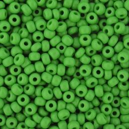 Preciosa pyöreä siemenhelmi 6/0, opaakki vihreä
