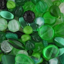 Preciosa lasihelmisekoitus, Green