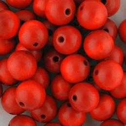 Preciosa pyöreä lakattu puuhelmi 12 mm, punainen