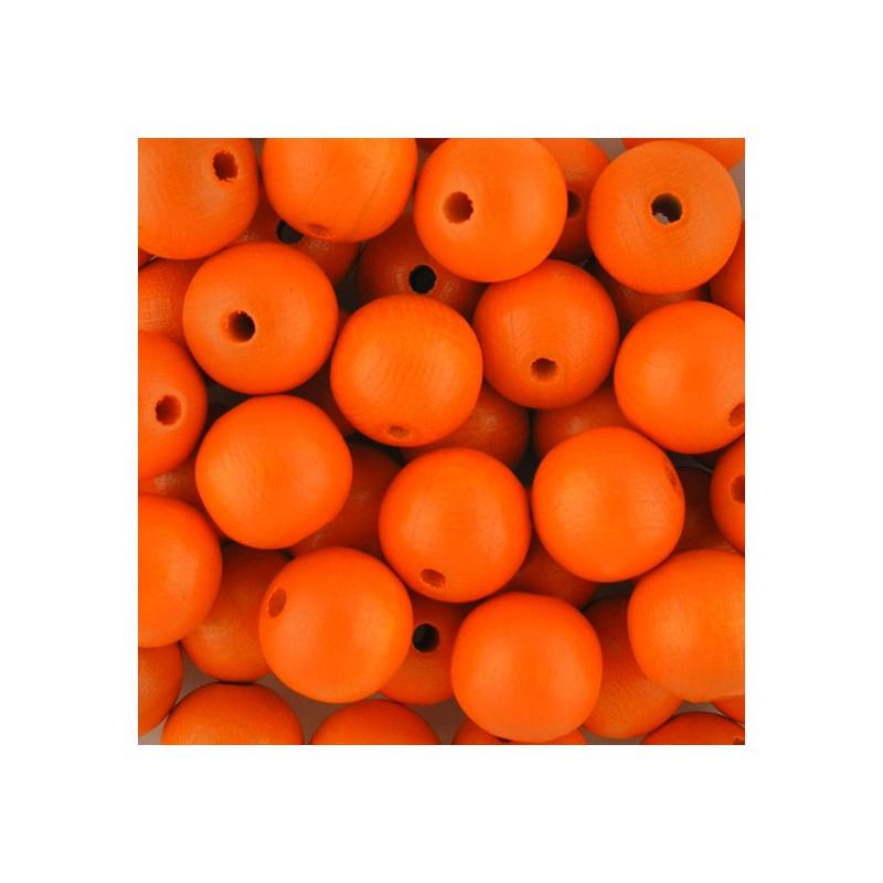 Preciosa pyöreä lakattu puuhelmi 12 mm, oranssi