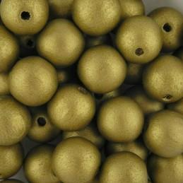 Preciosa pyöreä lakattu puuhelmi 12 mm, kulta