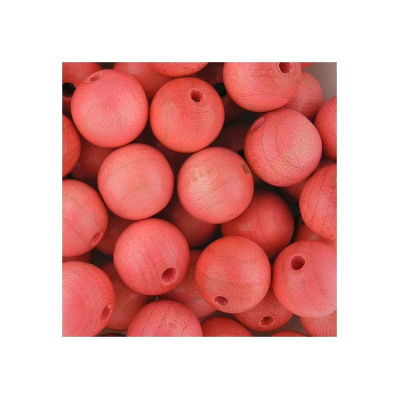 Preciosa pyöreä lakattu puuhelmi 12 mm, vaaleanpunainen