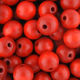 Preciosa pyöreä lakattu puuhelmi 10 mm, punainen