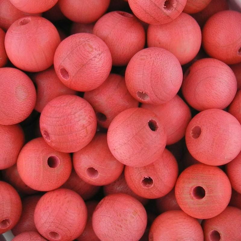 Preciosa pyöreä lakattu puuhelmi 10 mm, vaaleanpunainen