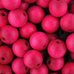 Preciosa pyöreä lakattu puuhelmi 10 mm, pinkki
