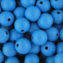 Preciosa pyöreä lakattu puuhelmi 10 mm, vaaleansininen