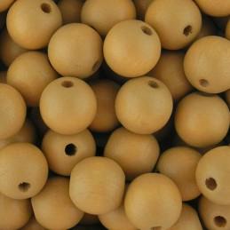 Preciosa pyöreä lakattu puuhelmi 10 mm, beige
