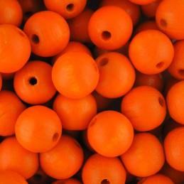 Preciosa pyöreä lakattu puuhelmi 10 mm, oranssi