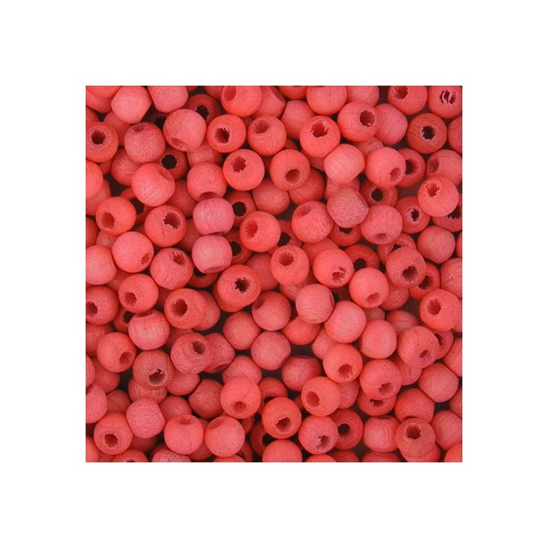 Preciosa pyöreä lakattu puuhelmi 4 mm, vaaleanpunainen