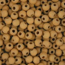 Preciosa pyöreä lakattu puuhelmi 4 mm, beige