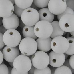 Preciosa pyöreä lakattu puuhelmi 10 mm, valkoinen