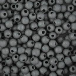 Preciosa pyöreä lakattu puuhelmi 4 mm, hopea