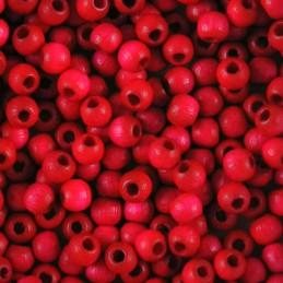 Preciosa pyöreä lakattu puuhelmi 4 mm, pinkki