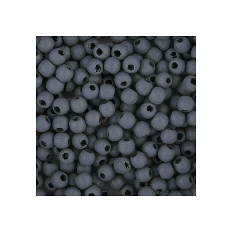 Preciosa pyöreä lakattu puuhelmi 4 mm, harmaa