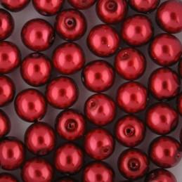 Preciosa pyöreä helmiäislasihelmi 8 mm, punainen