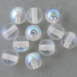 Tsekkiläinen pyöreä lasihelmi 6 mm, kirkas AB