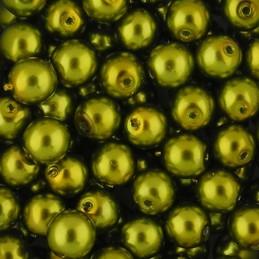 Preciosa pyöreä helmiäislasihelmi 6 mm, keltavihreä