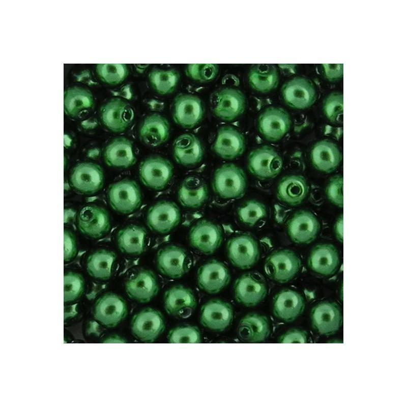 Preciosa pyöreä helmiäislasihelmi 4 mm, vihreä