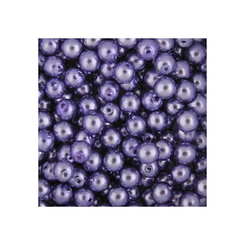 Preciosa pyöreä helmiäislasihelmi 4 mm, vaalea lila