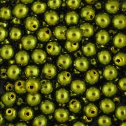 Preciosa pyöreä helmiäislasihelmi 4 mm, keltavihreä