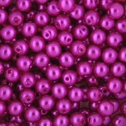 Preciosa pyöreä helmiäislasihelmi 4 mm, pinkki