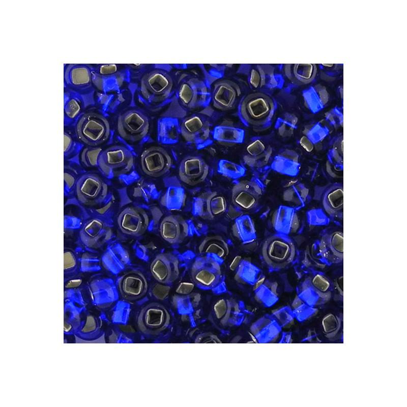 Preciosa pyöreä siemenhelmi 6/0, hopeasisus tummansininen