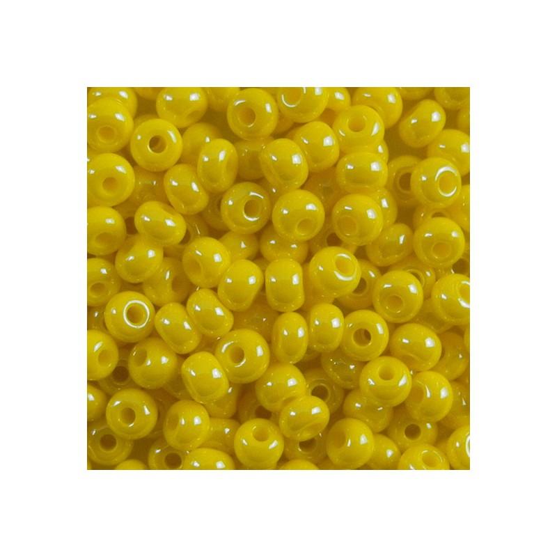 Preciosa pyöreä siemenhelmi 6/0, opaakki keltainen sfinx