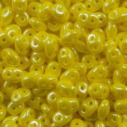 Superduo siemenhelmi 2,5 x 5 mm, opaakki kiiltävä sitruunankeltainen