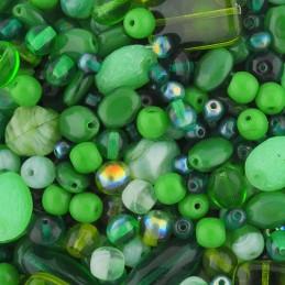 Tsekkiläinen lasihelmisekoitus, vihreä