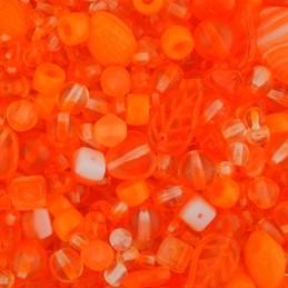 Tsekkiläinen lasihelmisekoitus, oranssi