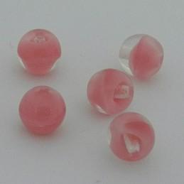 Tsekkiläinen pyöreä lasihelmi 6 mm, kirkas/rosaline