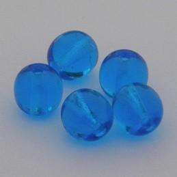 Tsekkiläinen pyöreä lasihelmi 6 mm, kirkas kaprinsininen
