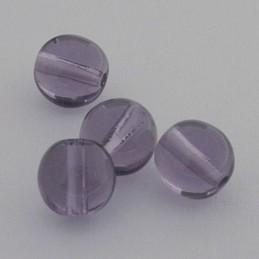 Tsekkiläinen pyöreä lasihelmi 6 mm, kirkas tansaniitti