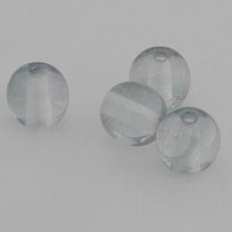 Tsekkiläinen pyöreä lasihelmi 6 mm, kirkas kiiltävä vaaleanvihreä