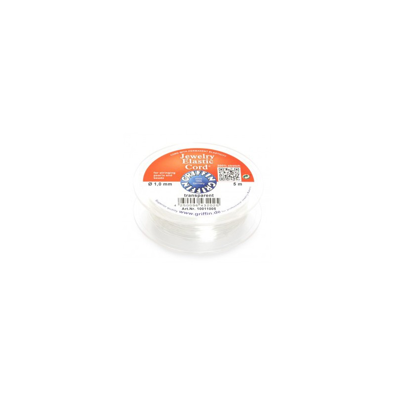 Griffin Jewelry Elastic Cord joustolanka 1,0 mm, kirkas