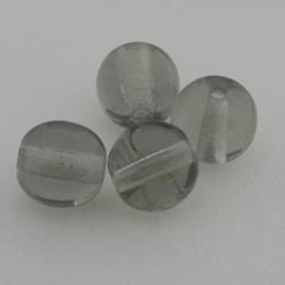 Tsekkiläinen pyöreä lasihelmi 6 mm, kirkas musta timantti