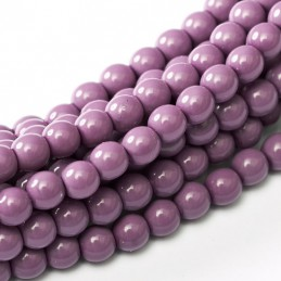 Tsekkiläinen fiesta helmiäislasihelmi 8 mm, violetti
