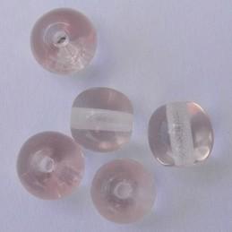 Tsekkiläinen pyöreä lasihelmi 6 mm, kirkas rosaline