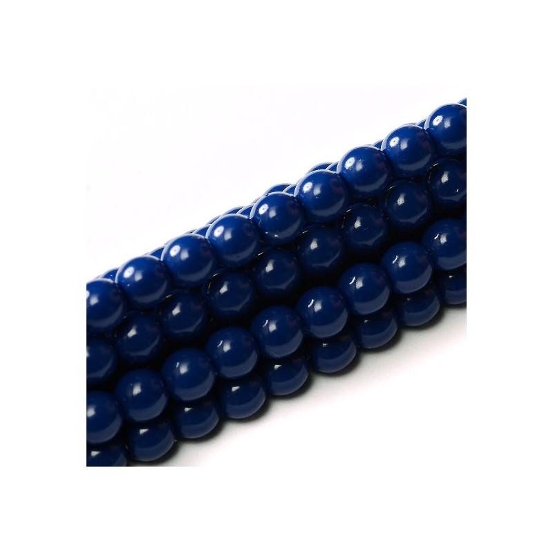 Tsekkiläinen fiesta helmiäislasihelmi 8 mm, syvänsininen
