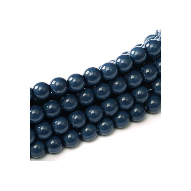 Tsekkiläinen fiesta helmiäislasihelmi 8 mm, merensininen