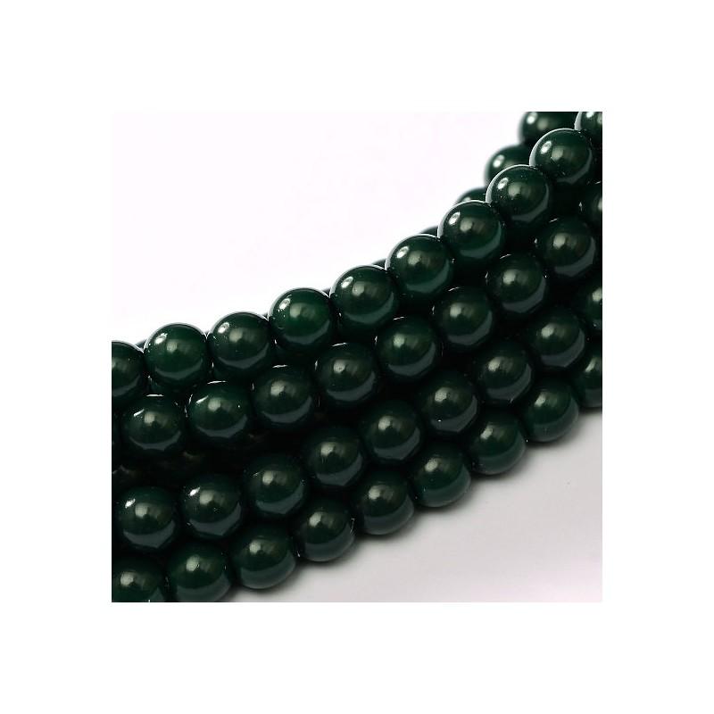 Tsekkiläinen fiesta helmiäislasihelmi 8 mm, tummanvihreä