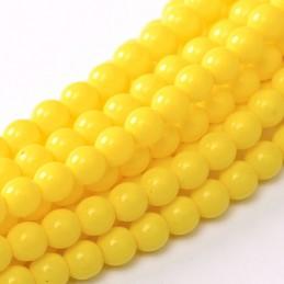 Tsekkiläinen fiesta helmiäislasihelmi 8 mm, keltainen