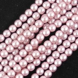 Tsekkiläinen mattapintainen helmiäislasihelmi 3 mm, antiikkipinkki satiini